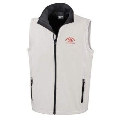Torpedoes Soft Shell Men Gilet White